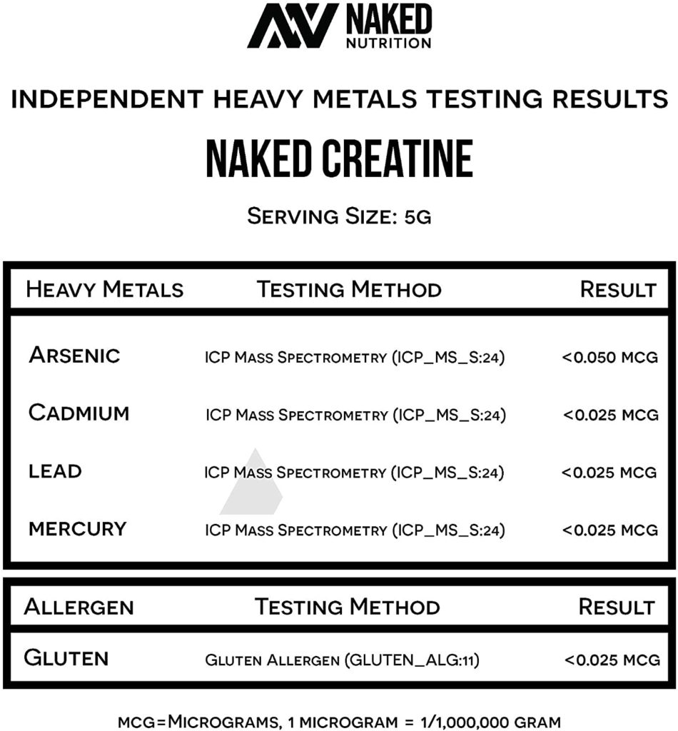 NAKED Pure Creatine Monohydrate Powder