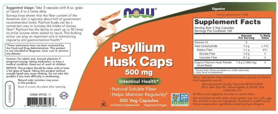 NOW Psyllium Husk Fiber 1