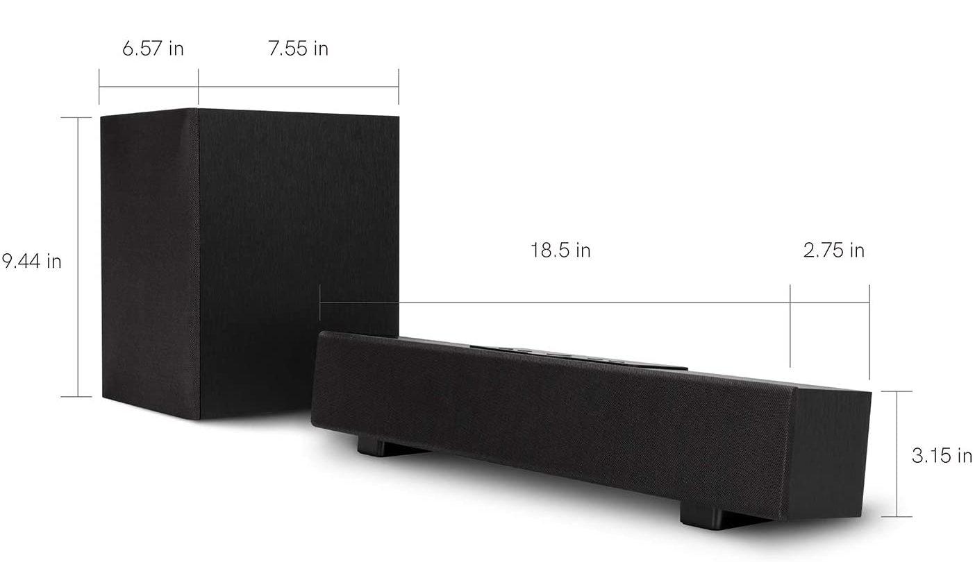 Atune Analog Sound Bar specs