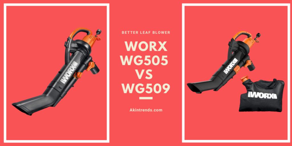 Worx WG505 vs WG509