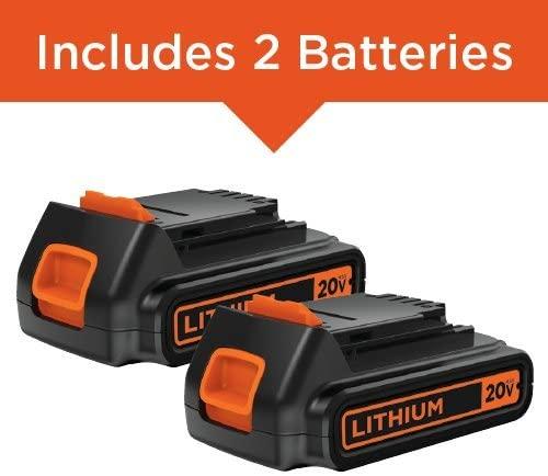 Black+Decker Cordless Drill Combo Kit, 6-Tool battery pack