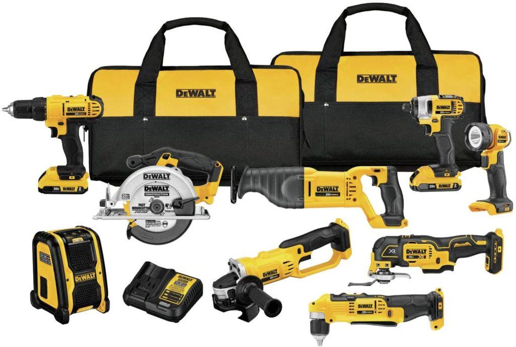 Dewalt Max Cordless Drill Power Tool Set, 9-Tool