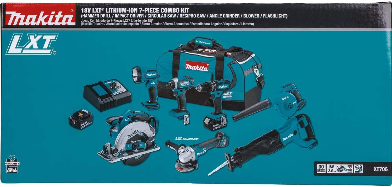 Makita XT706 3.0Ah 18V LXT Cordless Combo Kit box