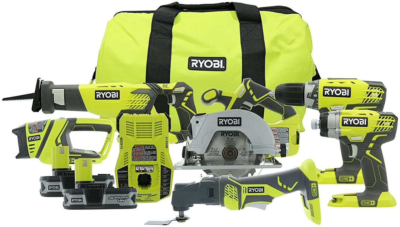 Ryobi P884 18V ONE+ Combo Kit, 6-Tools