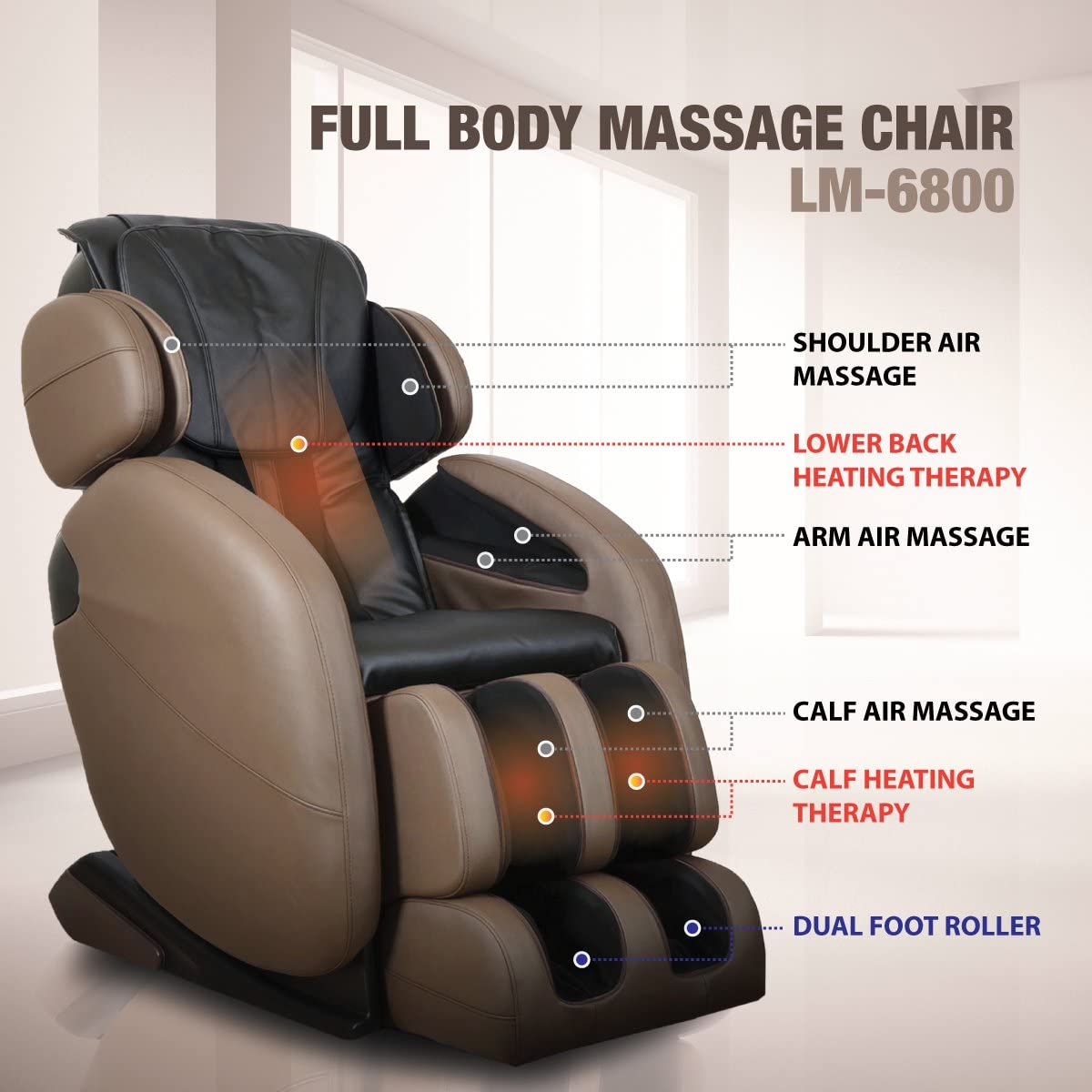 Kahuna LM6800 Full Body Massage Chair Recliner