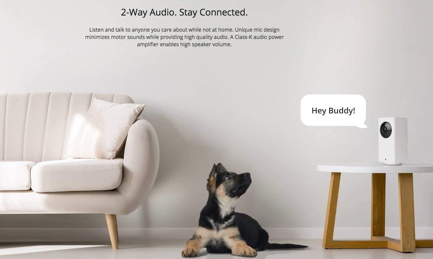 Wyze Cam Pan Smart Home Camera two way communication
