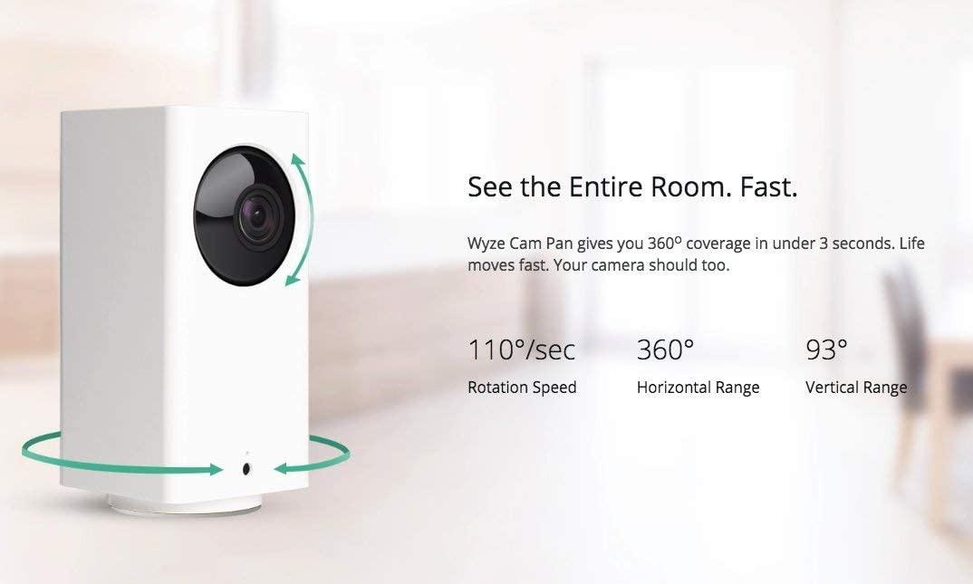 Wyze Cam Pan Smart Home Camera view angle