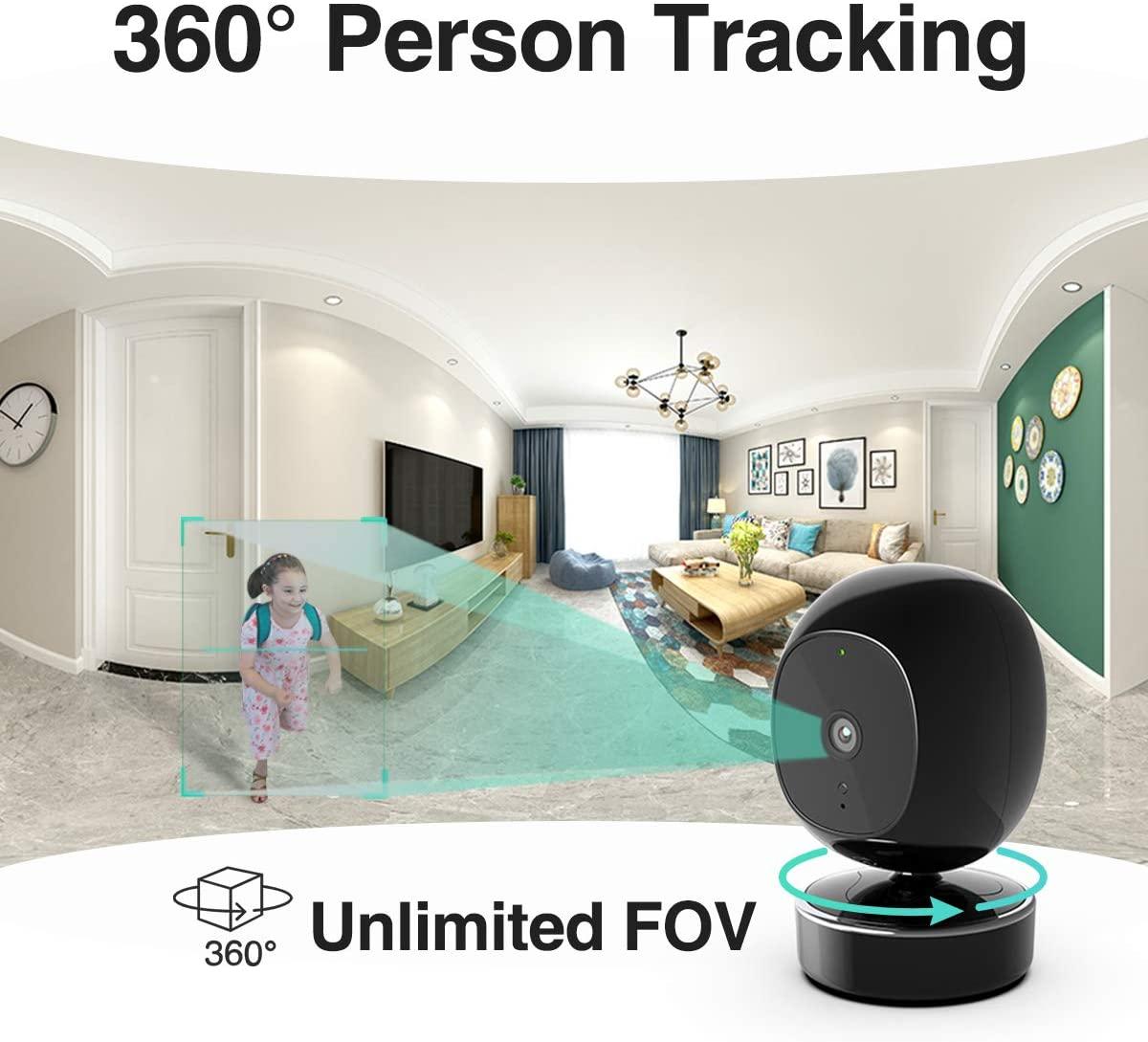 SimCam 1S AI Home Security Camera degree of view