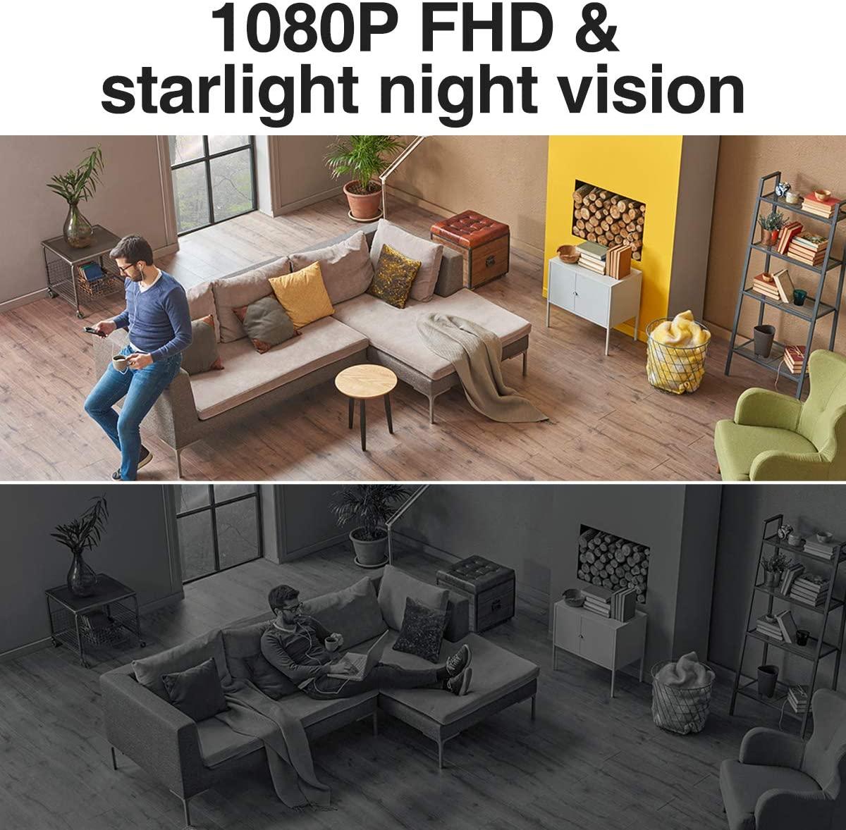SimCam 1S AI Home Security Camera night vision