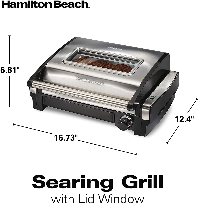 Hamilton Beach Electric Searing Grill specs