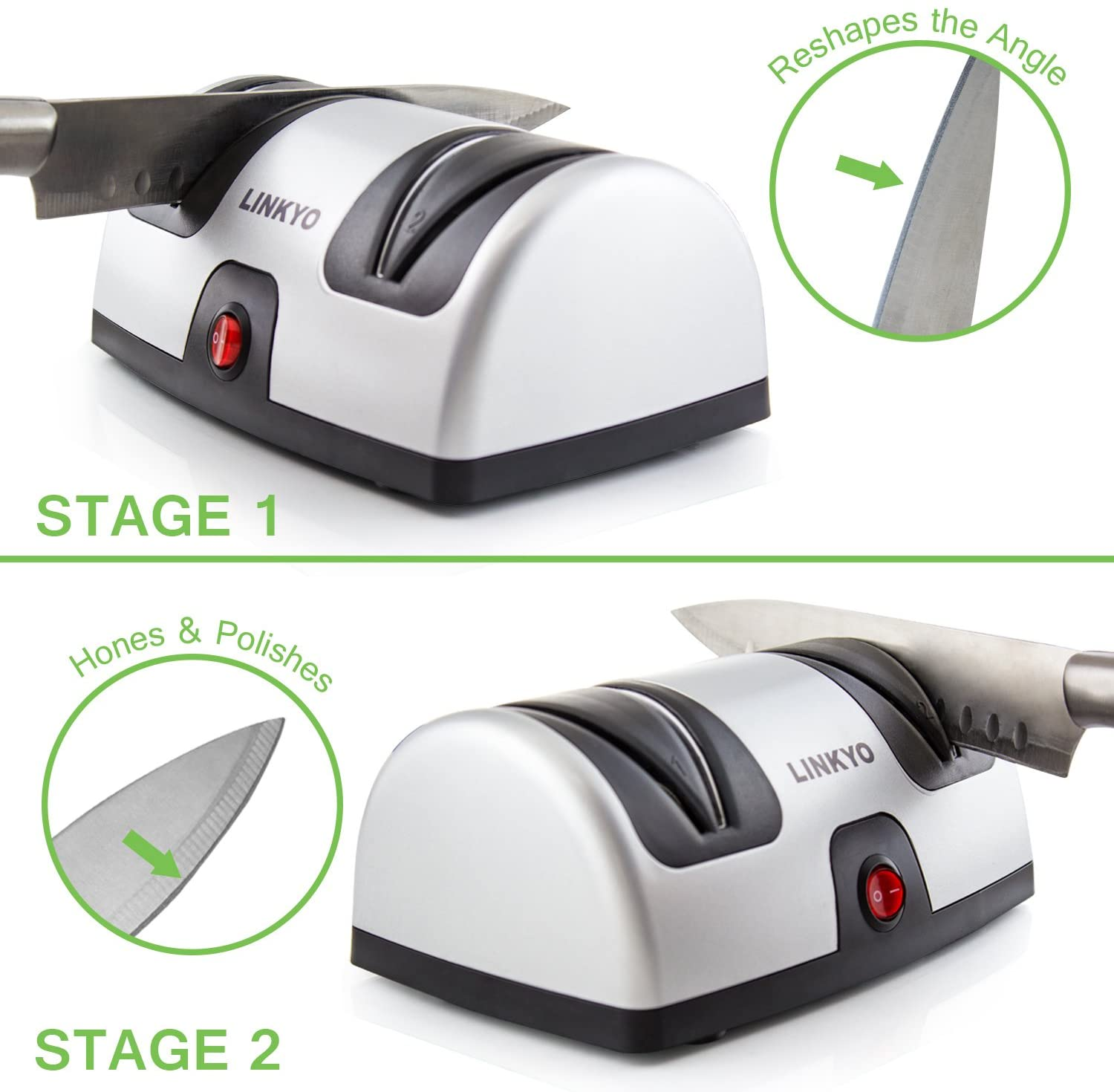 Linkyo Electric Knife Sharpener process