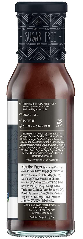 Primal Kitchen Barbecue & Steak Sauce nutritional facts steak sauce