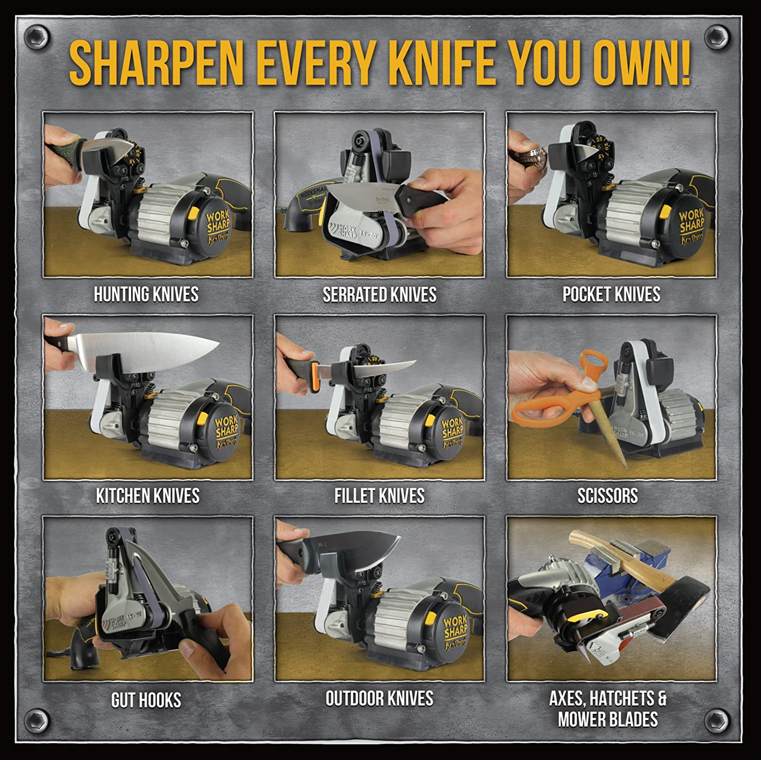 Work Sharp Ken Onion Edition Sharpener how to use