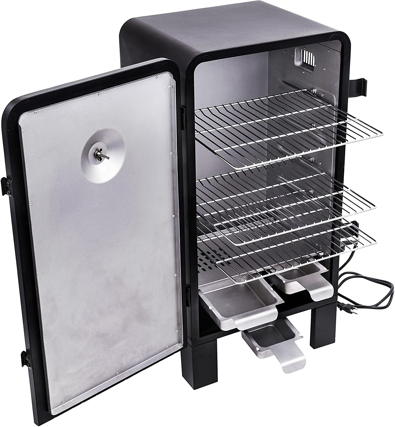 Char-Broil Analog Electric Smoker open