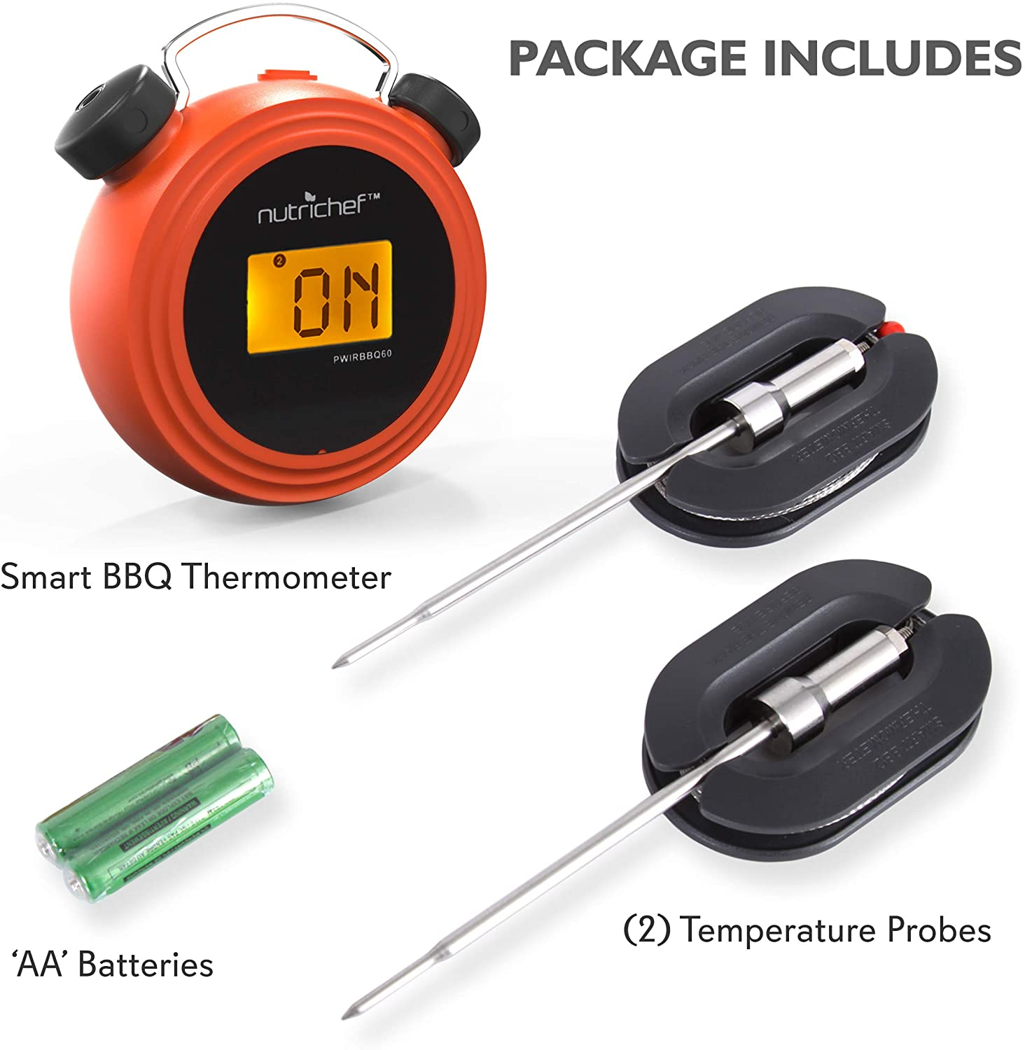 NutriChef Smart Wireless Thermometer package items