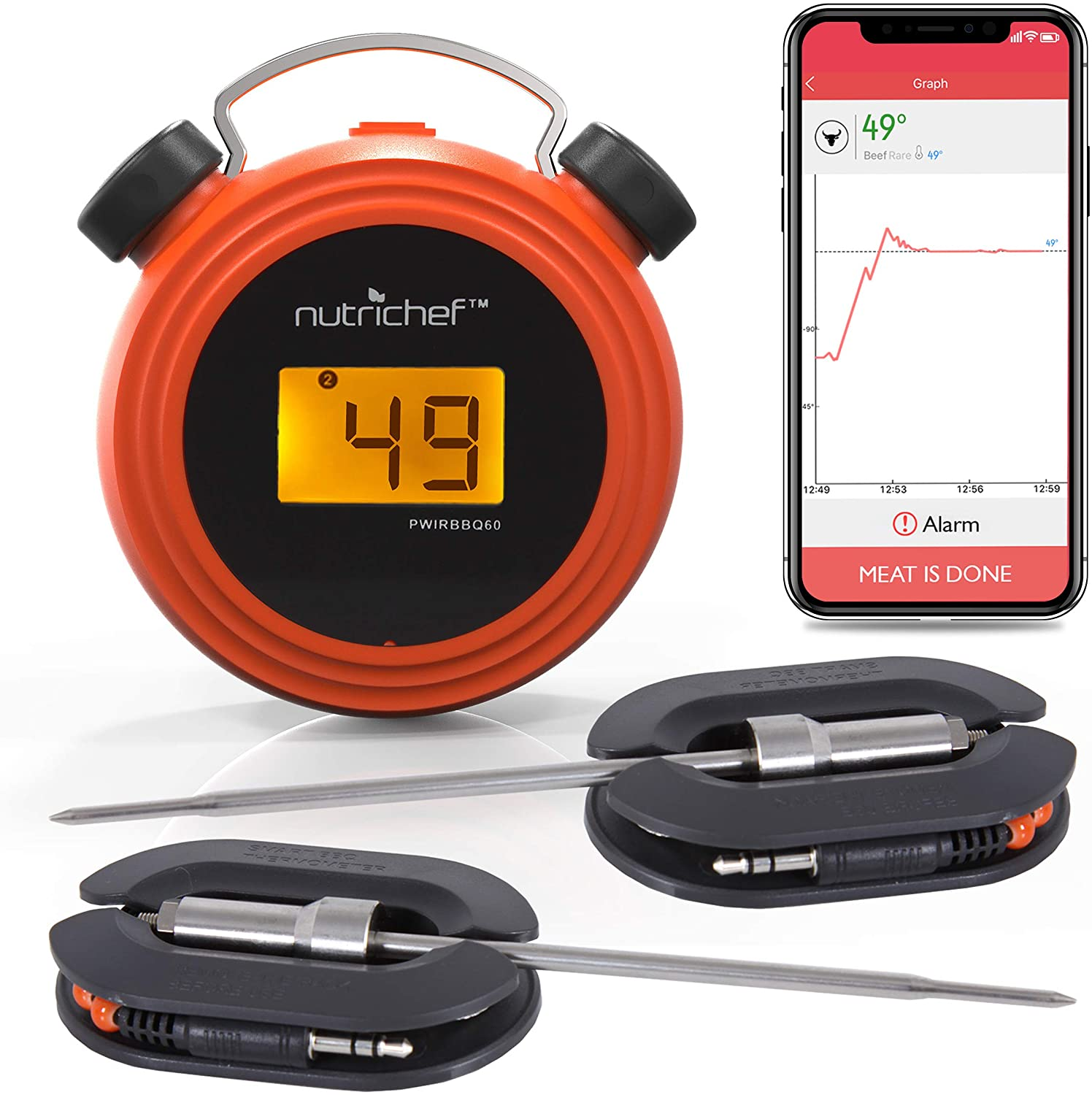 NutriChef Smart Wireless Thermometer
