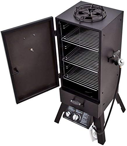 Char-Broil Vertical Gas Smoker open