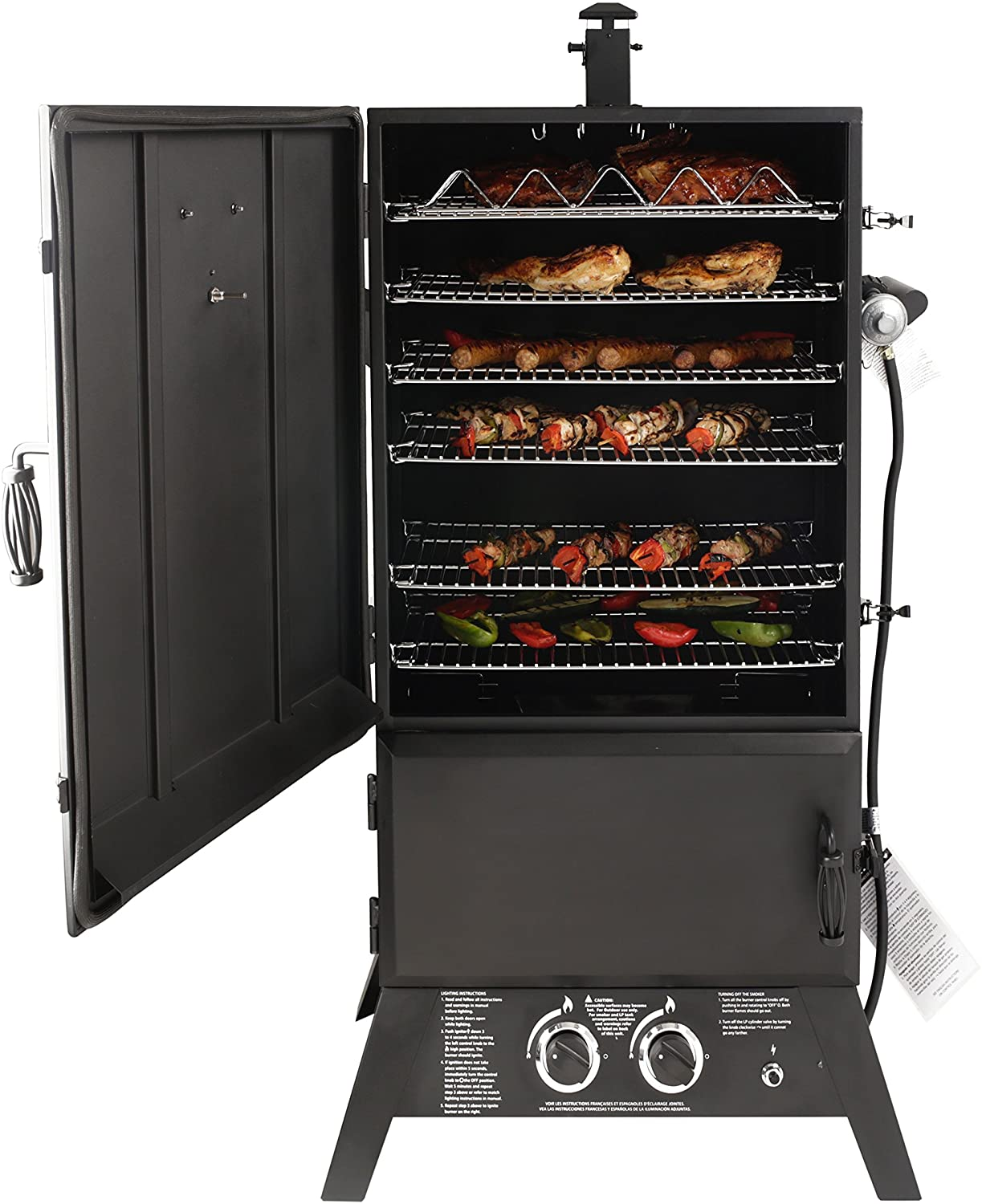 Dyna-Glo GW1904BDP-D Gas Smoker in use