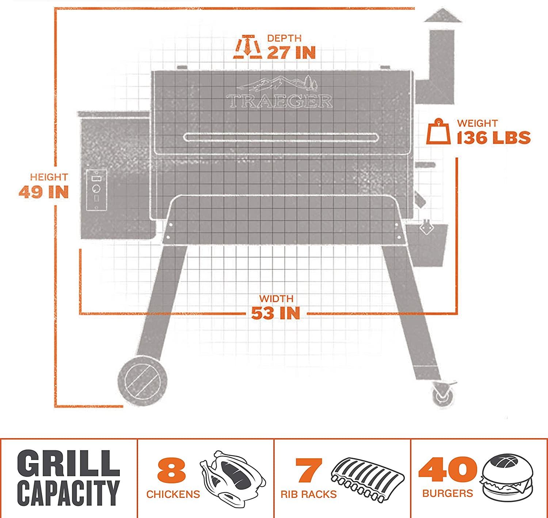 Traeger Pro Series 34 Grill capacity