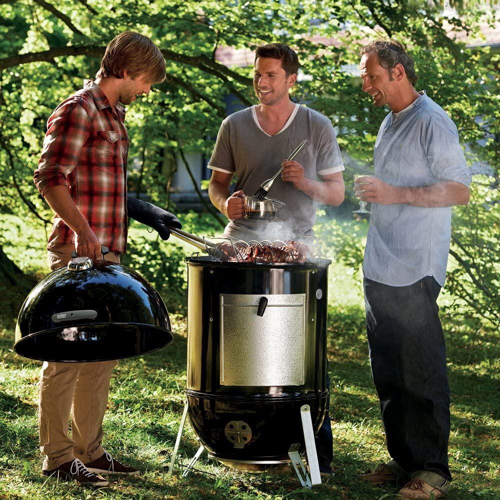 Weber 22-inch Smokey Mountain Cooker, Charcoal Smoker outdoor