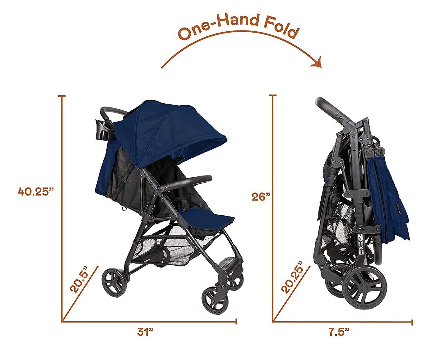 Zoe Tour+X1 Stroller fold