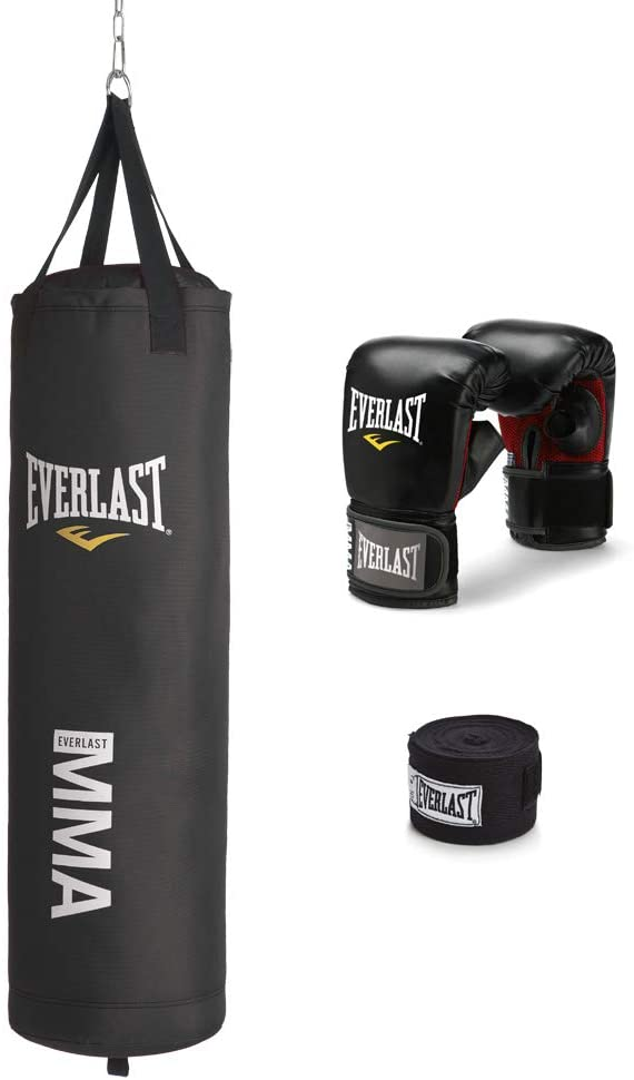 Everlast 70-Pound MMA Heavy Bag Kit